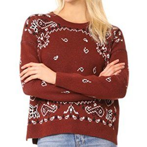 Madewell bandana women pullover BNWT sweater NEW